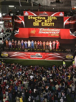 Driver introduction for the Budweiser Shootout