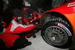 studded tire of Toni Gardemeister and Jakke Honkanen