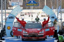 Podium: second place Sébastien Loeb and Daniel Elena