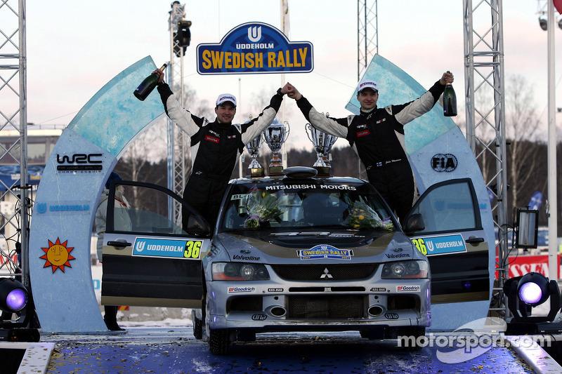 Podium: Juho Hanninen and Mikko Markkula