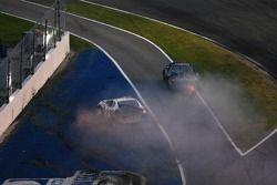 Tim Russell and Damon Lusk crash