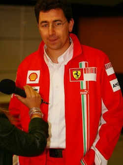 Mattia Binotto, Scuderia Ferrari, Chief Track Engineer