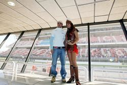 Vitantonio Liuzzi and a Scuderia Toro Rosso gladiator girl