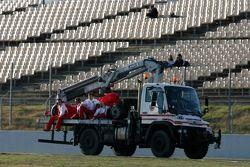 Felipe Massa stopped on track
