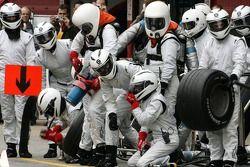 Honda Racing F1 team member