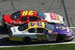 Steve Grissom and Robert Richardson race on pitlane