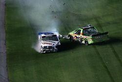 Ken Schrader and Tyler Walker crash