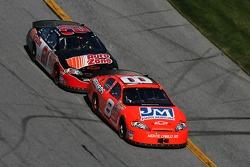Dale Earnhardt Jr. leads Kevin Harvick