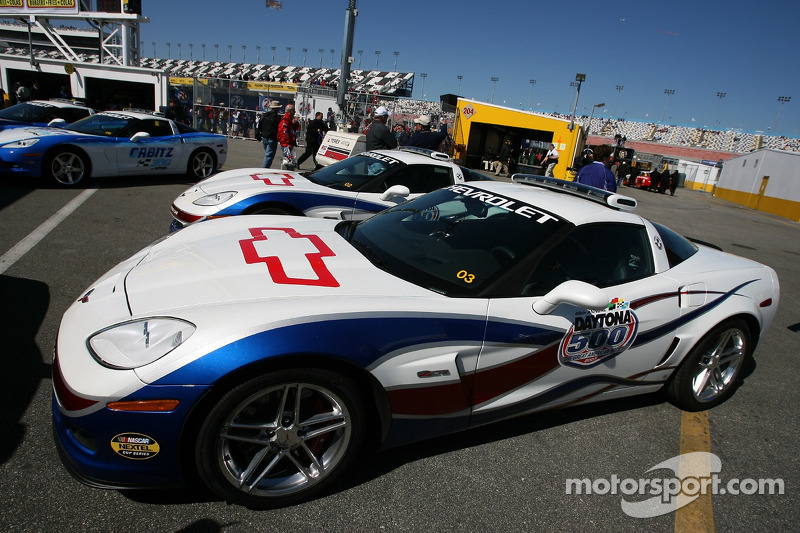 The Chevy Corvette pace car for the 2007 Daytona 500 at ...