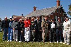 Media tour at the Ponce Inlet Light house: Jim Dandiver, Raymond Fox, Joe Mihalic, Dick Fleck, Jim Bray, Wally Parks, Russ Truelove, Johnny Allen, Marvin Panch, Junie Donleavy and Leo Cleary