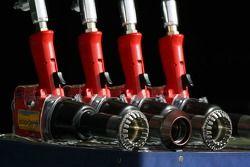 Wheel guns Red Bull Racing pit
