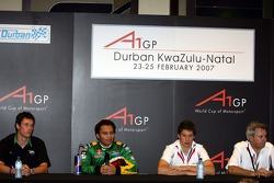 Press conference: Alan van der Merwe, Adrian Zaugg, Loic Duval and Jean Paul Driot, Seat Holder of A1Team France