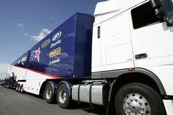 Paul Cruickshank Racing transporter