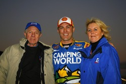 Daytona 500 winner Kevin Harvick reconnected with Wayne and Connie Spears prior to Friday night's San Bernardino County 200