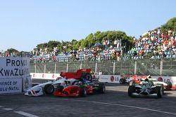 Ananda Mikola and Adrian Zaugg crash at turn 1