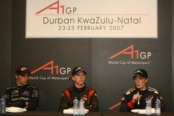 Press conference: race winner Nico Hulkenberg with Robbie Kerr and Matt Halliday
