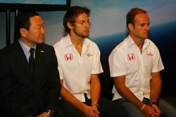 Yashurio Wada, Honda Racing Development Ltd, Başkanı, Jenson Button ve Rubens Barrichello