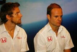 Jenson Button ve Rubens Barrichello