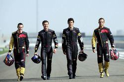 Red Bull Racing and Scuderia Toro Rosso photoshoot: Scott Speed, David Coulthard, Mark Webber and Vi