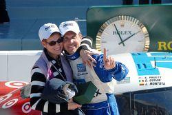DP Podium: Scott Pruett and wife Judy celebrate
