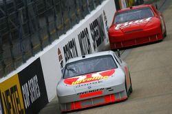 Juan Pablo Montoya leads Dale Earnhardt Jr.