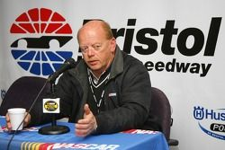 John Darby, NASCAR Nextel Cup Series Director speaks with the media