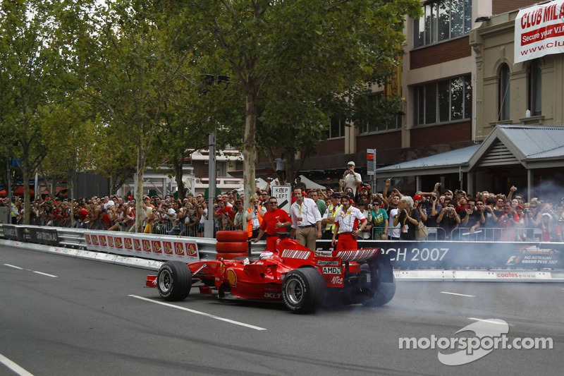 Marc Gene, test driver, in the Ferrari 248