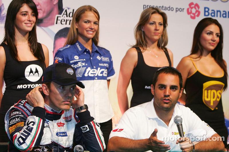 Adrián Fernández y Juan Pablo Montoya se reúnen con los medios de comunicación