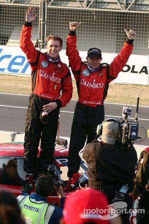 Overall winners Jon Fogarty and Alex Gurney celebrate