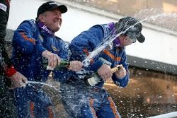 GT podium: class winners Sylvain Tremblay and Nick Ham