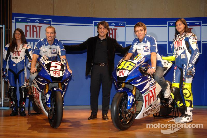 Colin Edwards, Luca de Meo und Valentino Rossi