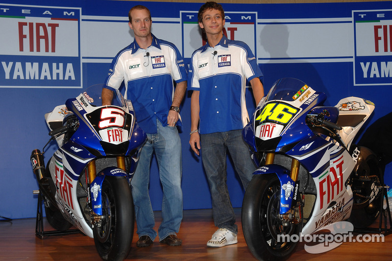 Colin Edwards y Valentino Rossi