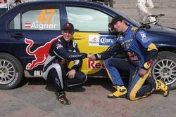 Andreas Aigner y Klaus Wicha, Red Bull Rallye Team, Mitsubishi Lancer Evo IX