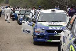 Balazs Benik y Laszlo Bunkoczi, OMV Bixxol Rally Team Mitsubishi Lancer Evo IX