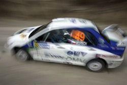 Stepan Vojtech y Michal Ernst, OMV Bixxol Rally Team Mitsubishi Lancer Evo IX