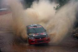 Fumio Nutahara y Daniel Barritt, Advan-PIAA Rally Team Mitsubishi Lancer Evolution IX