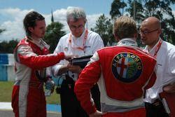 Oliver Tielemans, N Technology, Alfa Romeo 156 et James Thompson, N Technology, Alfa Romeo 156