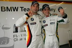 Pole position, Jorg Muller, BMW Team Germany, BMW 320si WTCC and Augusto Farfus, BMW Team Germany, BMW 320si WTCC