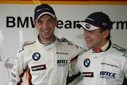 Pole position, Jorg Muller, BMW Team Germany, BMW 320si WTCC, 2nd, Augusto Farfus, BMW Team Germany,