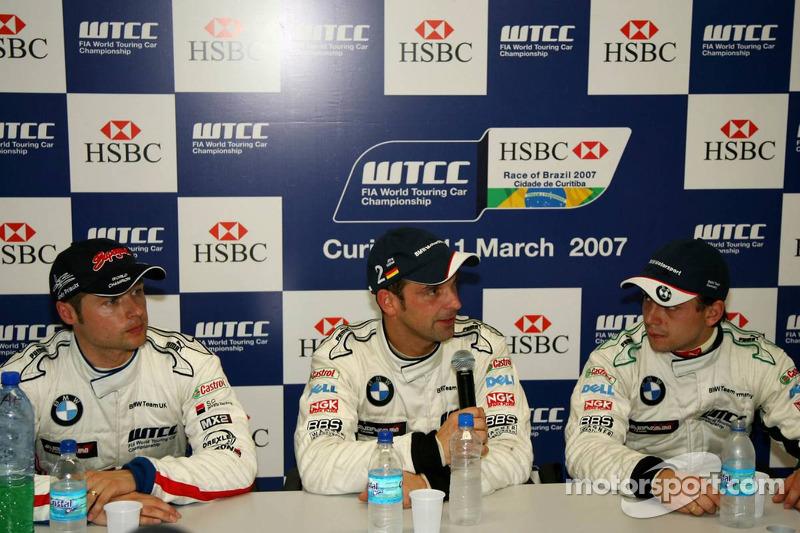 Pole position, Jorg Muller, BMW Team Germany, BMW 320si WTCC, 2nd, Augusto Farfus, BMW Team Germany,