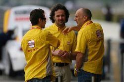 Tiago Monteiro, SEAT Sport, SEAT Leon, Yvan Muller, SEAT Sport, Seat Leon y Gabriele Tarquini, SEA