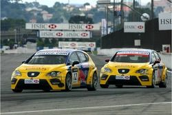 Yvan Muller, SEAT Sport, Seat Leon e Jordi Gene, SEAT Sport, SEAT Leon