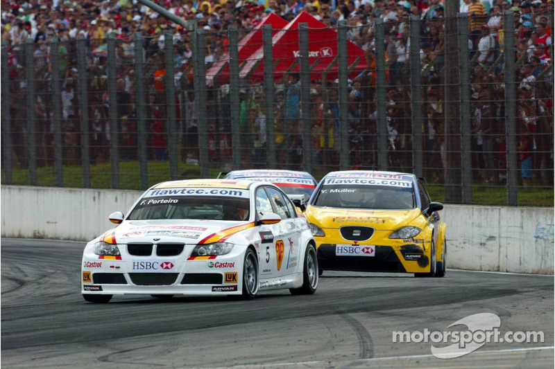 Felix Porteiro, BMW Team Italy-Spain, BMW 320si WTCC et Yvan Muller, SEAT Sport, Seat Leon