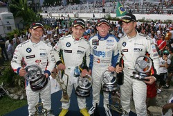 Augusto Farfus, BMW Team Germany, BMW 320si WTCC, 2nd, Andy Priaulx, BMW Team UK, BMW 320si WTCC, 3r