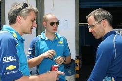 Robert Huff, Team Chevrolet, Chevrolet Lacetti and Nicola Larini, Team Chevrolet, Chevrolet Lacetti