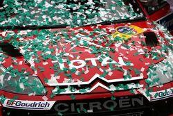 The winning Citroen Total WRT, Citroen C4 WRC