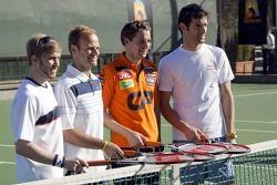 Nick Heidfeld, BMW Sauber F1 Team, Rubens Barrichello, Honda F1 Team, Christijan Albers, Spyker F1 Team, Mark Webber, Red Bull Racing