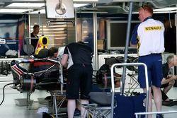 Red Bull Racing travaille sur leur voiture