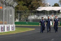 Alexander Wurz, Williams F1 Team, marche autour du circuit