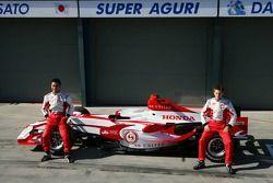 Takuma Sato, Super Aguri F1 and Anthony Davidson, Super Aguri F1 Team, Super Aguri F1 Team, SA07, La